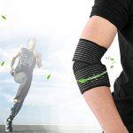 1PCS Attelle de Coude Réglable, Attachez Les Sangles, Enveloppe Respirante élastique de Bandage de Coude, Sangle de Protection de Support pour la Musculation de Tennis de Golf de la marque Zer one image 3 produit