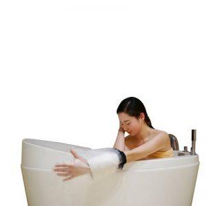 Adulte Bras de douche en fonte Coque–Muttiy Meilleur Joint étanche protection clair, étanche Bandage de protection pour main, poignet, doigt plaie en bain ou de natation et 100% réutilisables (Noir) de la marque MUTTIY image 0 produit