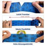 Amathings Lot de 12 bandages adhésifs en bleu avec film de fixation élastique 5 cm de large 4,5 m de longueur pour les doigts, la main, les orteils et les pieds, le pansement magique Bleu de la marque AMATHINGS image 2 produit