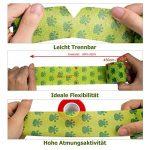 Amathings Lot de 12 bandages adhésifs pour pansements Vert avec film de fixation élastique 5 cm de largeur 4,5 m de longueur pour les doigts, la main, les orteils et les pieds, bande de maintien de la marque AMATHINGS image 4 produit