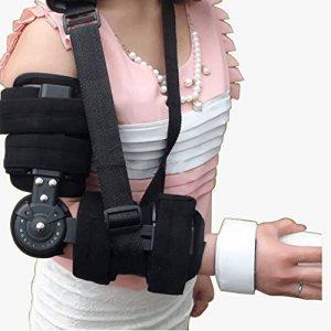 Attache fixe de joint de coude réglable - correction d'activité d'orthosis Limitation de bras Protecteur de fracture, réadaptation Stretching formation Orthèse corrective de la marque GPFDM image 0 produit