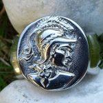 Bague Déesse Grecque Athéna Acier Poli Taille 69 Beaux Reliefs de la marque Bijoux Grèce Antique image 1 produit