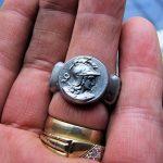 Bague Déesse Grecque Athéna Acier Poli Taille 69 Beaux Reliefs de la marque Bijoux Grèce Antique image 4 produit