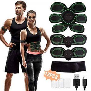 Born2Rise™ Ceinture Abdominale Electrostimulation Electrostimulateur Musculaire USB pour Musculation Abdominaux Bras Jambes Fessiers de la marque Born2Rise image 0 produit