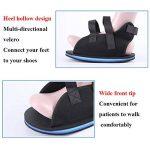 Botte de marche post-op-Cast Medical Chaussure-Posture de blessure de chaussure de pied fracturée chirurgicale-Chaussure de plâtre de réhabilitation de guérison,25cm2pcs de la marque BXDF image 2 produit