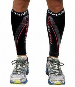 Camari Gear Sports Run and Recover Manchons de Compression pour Les Mollets - Hommes et Femmes - Noir - Compression Sports Calf Sleeves - Black - for Running, Cycling, Triathlon, Crossfit, Gym de la marque Camari-Gear image 0 produit