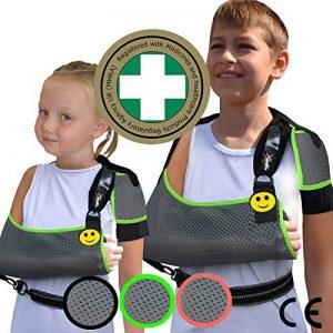 Écharpe d'épaule de bras pour l'enfant (taille unique 3-10ans) Conception unique pour la prévention de la douleur au cou. Unisexe de la marque 4DflexiSPORT image 0 produit