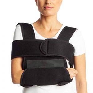 Écharpe de bras de ArmoLine - En tissu respirant - Pour bras ou poignet cassé - Immobilisateur d'épaule - Coloris noir - Pour adulte de la marque ArmoLine image 0 produit