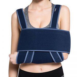 Écharpe de bras Velpeau - Peut être utilisée pendant le sommeil - Support de poignet rotatif - Écharpe médicale réglable pour les os cassés et fracturés, luxation, entorses, foulures et larmes de la marque Velpeau image 0 produit