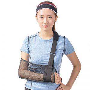 Écharpe médicale pour soutien du bras, immobilisation de l'épaule et de la coiffe des rotateurs Avec sangle de support Tissu léger et respirant Noir de la marque HKJD image 0 produit