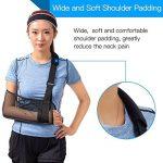 Écharpe médicale pour soutien du bras, immobilisation de l'épaule et de la coiffe des rotateurs Avec sangle de support Tissu léger et respirant Noir de la marque HKJD image 2 produit