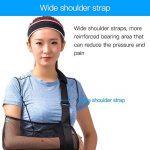 Écharpe médicale pour soutien du bras, immobilisation de l'épaule et de la coiffe des rotateurs Avec sangle de support Tissu léger et respirant Noir de la marque HKJD image 4 produit