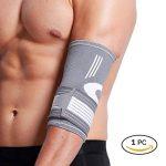 Coudière Neotech Care (1 Unité) - Compression AJUSTABLE - Légère, élastique, flexible et respirante - Protège-coude pour sport, tennis, golf (Taille XS) de la marque Neotech-Care image 3 produit