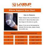 Coudière Tennis - Elbow Liveup SPORTS Coudière de Maintien/ Manchon de Compression Bras de Coude Réglable-Récupération Musculaire & Maintien Optimal de l'Avant- Bras & du Coude- LS5673 de la marque Live-Up-Sports image 1 produit