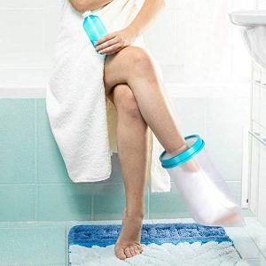 Couvre-cheville pour adulte pour la douche, bandage étanche, protection contre les pieds cassés, récupération de la chirurgie lors du bain pour femme et homme de la marque PINCOU image 0 produit