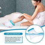 Couvre-cheville pour adulte pour la douche, bandage étanche, protection contre les pieds cassés, récupération de la chirurgie lors du bain pour femme et homme de la marque PINCOU image 1 produit