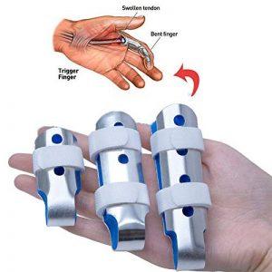 Doigt d'attelle de Sumifun,attelles de doigt de DIP de maillet, attelle d'extension de doigt pour le doigt de déclenchement,doigt de maillet, immobilisation d'articulation de doigt, frictions de doigt de la marque Sumifun image 0 produit