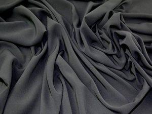 Doux Uni Polyester Robe en tissu gris école–par mètre + sans Minerva Crafts Craft Guide de la marque Minerva image 0 produit