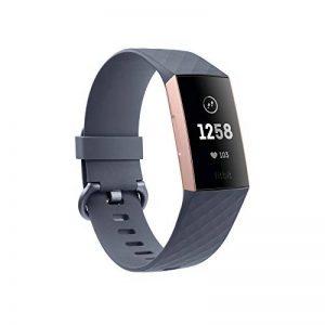 Fitbit - Charge 3 - Bracelet d'activité Forme et Sport : Jusqu'à 7 Jours d'autonomie et Étanche - Aluminium Or Rose / Bleu Ardoise de la marque Fitbit image 0 produit