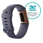 Fitbit - Charge 3 - Bracelet d'activité Forme et Sport : Jusqu'à 7 Jours d'autonomie et Étanche - Aluminium Or Rose / Bleu Ardoise de la marque Fitbit image 3 produit