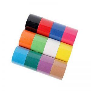 FITOP Bande de Kinésiologie 12 rouleaux Sport Tape en couleurs arc-en-ciel mélangées de la marque FITOP image 0 produit