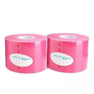 FITOP Kinésiologie Tape 2 Rouleaux 5cm X 5m Ktape Bandes Rose de la marque FITOP image 0 produit