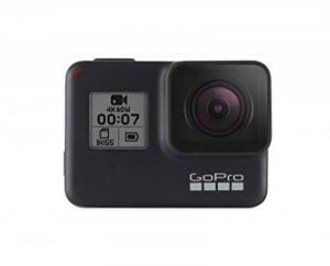 GoPro HERO7 Black — Caméra numérique embarquée étanche avec écran tactile, vidéo HD 4K, photos 12 MP, diffusion en direct et stabilisation intégrée de la marque GoPro image 0 produit