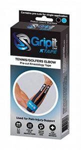 Gripit Ruban de Kinésiologie Prédécoupé Coude Golf/Tennis Bleu/Noir de la marque Gripit image 0 produit