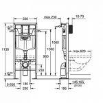 GROHE - 38340001 - Bâti-Support pour WC Suspendu - Mur Porteur ou Non-Porteur - Rapid SL (Import Allemagne) de la marque GROHE image 1 produit