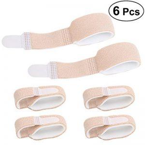 Healifty 6pcs soutien d'attelle d'accolade de doigt pour le marteau blessé de doigt d'orteil blessé de la marque Healifty image 0 produit