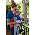 je porte mon bébé Petite Echarpe sans Nœud Chiné/Bleu Canard de la marque Love Radius image 3 produit
