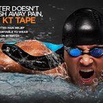 KT TAPE PRO bande élastique synthétique de kinésiologie Bande de sport–Soulagement de la douleur et support–100% étanche–Rouleau de 4.9m de la marque KT-Tape image 2 produit