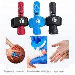 Kuangmi Manchon de doigt Soutien Protecteur Empeche les blessures aux doigts pendant les sports 1 pièce,Black S/M de la marque Kuangmi image 3 produit