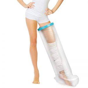 Leg Cast Cover Protector Waterproof pour douche, sac de toilette Cast pour bain adulte, manchon de botte en plâtre pour garder le bandage au sec, protection étanche pour blessure à la cheville de la marque TIANQING image 0 produit