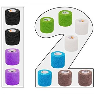 Lot de 12 bandages auto-adhésifs pour pansements - 5 cm de large - 4,5 m de longueur pour doigts - Main - Zes de la marque AMATHINGS image 0 produit