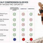 Manches à compression de mollet - périostite tibiale, Circulation & Manches à compression de crampe aux jambes - course, Jogging, vélo, Fitness & Exercise pour une performance améliorée de la marque Modetro Sports image 4 produit