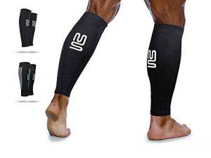 Manches à compression de mollet - périostite tibiale, Circulation & Manches à compression de crampe aux jambes - course, Jogging, vélo, Fitness & Exercise pour une performance améliorée de la marque Modetro Sports image 0 produit