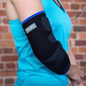 MEGLIO Coudière légère respirante en néoprène - Soulage la douleur, Armature métallique – Pratique du sport, Augmente la récupération après blessure - Taille Unique de la marque MEGLIO image 0 produit