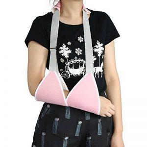 Épaule/bras Sling - Support ajustable doux avec sangle de taille, pour cassé et Fractured Bras,maillot respirant, tissu léger(Pink) de la marque Sonew image 0 produit