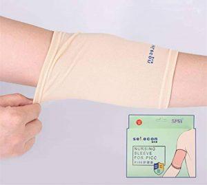PICC Line Housse de protection pour plâtre, allaitement, pour adultes et enfants Poids : 40-95 kg), respirant, ultra doux, beige de la marque JetStar image 0 produit