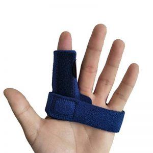 ROSENICE Attelle de doigt Réglable Soutien des doigts Contreventement pour soulager le blocage des doigts Popping Flexion en flexion Relâchement du tendon et soulagement de la douleur (bleu) de la marque rosenice image 0 produit