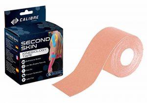 Second Skin by Calibre Fitness - Bande de kinésiologie - Maintien articulaire longue durée de qualité médicale développé par des scientifiques - Performances améliorées et douleurs soulagées de la marque Calibre-Fitness image 0 produit