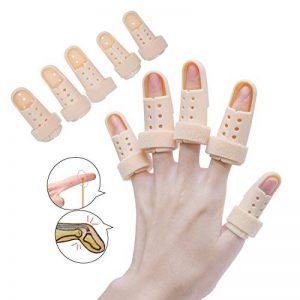 Sumifun Attelle de doigt, Attelle Mousse Doublé, Malléable Métallique Attelle to Aligné doigts Splint Brace moyen doigt Wrap Fasteners Tissu élastique pour les doigts Trigger doigts de la marque Sumifun image 0 produit