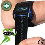 Tennis Elbow - Coudière anti-épicondylite. Portée à WIMBLEDON. Bracelet de compression ANTI-TRANSPIRANT, HYPOALLERGÉNIQUE, respecte les peaux délicates. SANS NEOPRENE-SANS LATEX. 4DflexiSPORT de la marque 4DflexiSPORT image 4 produit