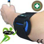 Tennis Elbow - Coudière anti-épicondylite. Portée à WIMBLEDON. Bracelet de compression ANTI-TRANSPIRANT, HYPOALLERGÉNIQUE, respecte les peaux délicates. SANS NEOPRENE-SANS LATEX. 4DflexiSPORT de la marque 4DflexiSPORT image 3 produit
