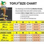 TOFLY Bas de compression à cuisse haute, opaque, soutien ferme compression de gradient de 20-30 mmHg avec bande de silicone, manchons de compression sans pieds, gonflement du traitement, Noir XXL de la marque TOFLY image 3 produit