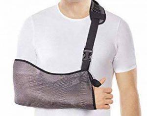 TOROS-GROUP Maintien bras blessé - Écharpe de bras - Immobilisation de bras droit ou gauche - Confortable Respirant Universelle et Unisexe - De haute qualité Gris X-Small de la marque TOROS-GROUP image 0 produit