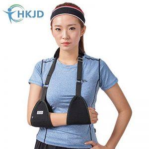 Triangle de l'écharpe médicale d'immobilisation épaule Rotator Brassard poignet Coude avant-bras support Brace Sangle avec rembourrage souple confortable léger simple pour cassé et Fractured Bras de la marque HKJD image 0 produit