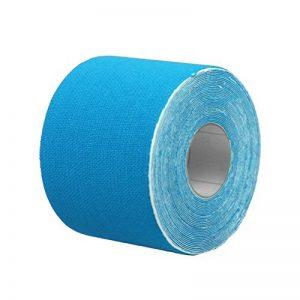 WINOMO Bande de kinésiologie bande thérapeutique de sports Pour Genoux/Coudes/Poignets/Dos/Epaules/Chevilles 5CM x 5M (Bleu) de la marque WINOMO image 0 produit