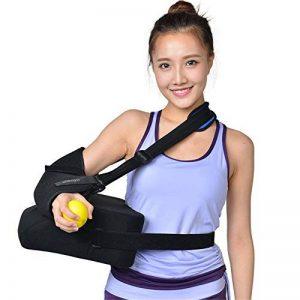 WODT Support d'épaule, Bonne Posture Bandage Attelle Luxation de l'épaule fixée Coussin d'entraînement à la Fracture humérale avec Ballon de Pression,Right,S de la marque WODT image 0 produit